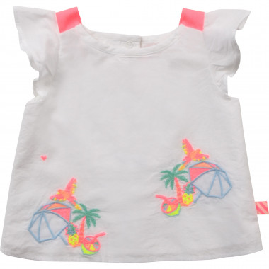 Embroidered strappy blouse BILLIEBLUSH for GIRL